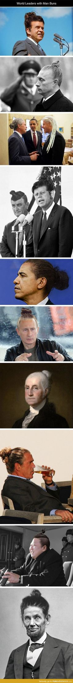 Leaders with man buns