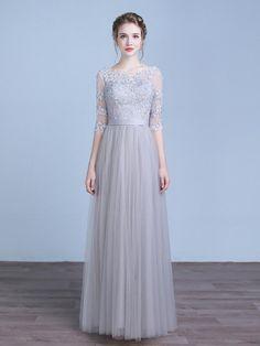 22780be437d96 Pink Floor Length Formal Prom Evening Dress Semi Formal Dresses, Black Prom  Dresses, Lace