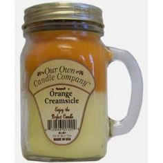 13oz ORANGE CREAMSICLE Scented Jar Candle (Our Own Candle Company Brand) Made in USA - 100 hr burn time