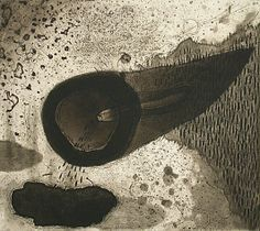 Akiko Taniguchi. Cornucopia, 2003. Etching, mezzotint. Edition of 20. 7-7/8 x 8-3/4 inches.