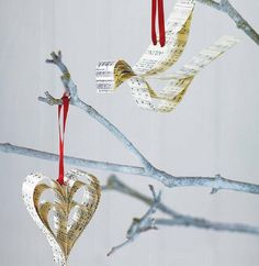 Finds: music sheet christmas decorations | Homegirl London