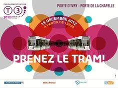 Inauguration du prolongement du tramway T3 entre la porte d'Ivry et la porte de la Chapelle samedi 15 décembre à 13h  http://www.pariscotejardin.fr/2012/12/inauguration-du-prolongement-du-tramway-t3-entre-la-porte-divry-et-la-porte-de-la-chapelle-samedi-15-decembre-a-13h/