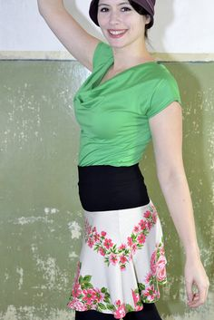 Sommerrock Upcycling-Mode Einzelstück in Größe 36-38 von 7streich