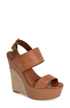 A rustic espadrille wedge is a must-have for the season.