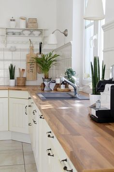 Home Design Ideas: Home Decorating Ideas Kitchen Home Decorating Ideas Kitchen White Kitchen Wooden Accessories Plants Living Interior Kitchen Styling Design