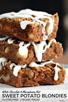 The best gluten free Sweet Potato Blondies. This recipe is super ...