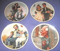 Set of 4 Vintage Norman Rockwell Miniature Plates Imm Japan Collector Porcelain | eBay$26 w sh jan 2014