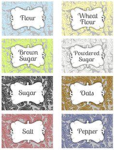 Printable Pantry Labels | Darling Doodles