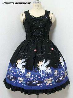 Metamorphose temps de fille » Jumper Skirt » Twinkle Journey JSK - I want in the black colorway