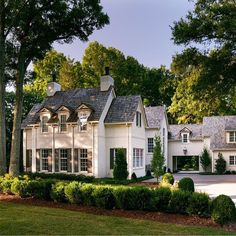 french country home, french country house exterior, white traditional house exte… french country home, french country house exterior, white traditional house exterior Image Size: French Country Houses Exterior, Country Home Exteriors, Dream House Exterior, Dream Home Design, My Dream Home, Future House, My House, House Goals, My New Room