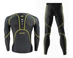 Santic Mens Cycling baselayer compression suit top and bottoms pant tights skin Compression Clothing, Cycling Outfit, Gym Wear, Wetsuit, Active Wear, Sportswear, Underwear, Tights, Suits