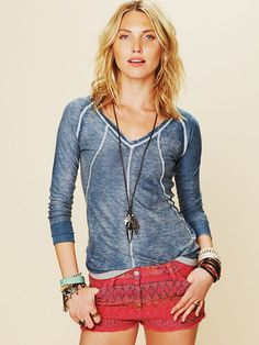 Kokun Cashmere V-Neck Pullover at Free People Clothing Boutique
