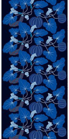 Kumina tyg - blå - Marimekko