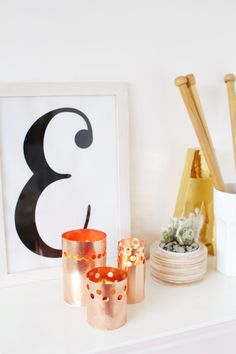 DIY Punched Copper Votives Easy Crafts, Diy And Crafts, Easy Diy, Craft Tutorials, Craft Projects, Inspirational Wall Art, Decoration, Diy Tutorial, Diy Home Decor