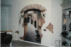 hand painted wall murals on Art Center Gallery