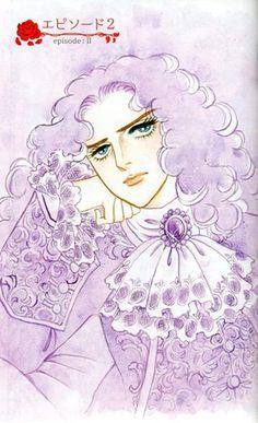 Riyoko Ikeda illustration (Versailles no bara)