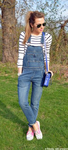 Nice 133 Best Spring Outfits with Overalls from https://fashionetter.com/2017/07/19/133-best-spring-outfits-overalls/