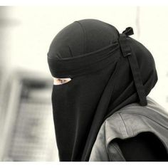 Girl in black niqab style