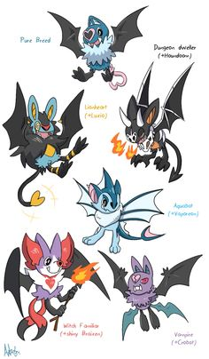I wanted to give this a try with my favorite pokemon. (there was also a +Noivern variation but since him and Swoobat share similar designs it ended looking just like a. Pokemon Fusion Art, Pokemon Fan Art, Pokemon Mix, Play Pokemon, Pokemon Stuff, Pokemon Breeds, Pokemon Memes, Curious Creatures, Mythical Creatures