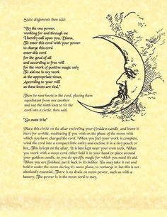 Book of Shadows Spell Pages ** How to Make Moon Cords ** Wicca Witchcraft BOS Wiccan Books, Wicca Witchcraft, Magic Spells, Healing Spells, Moon Magic, Sabbats, Moon Goddess, Book Of Shadows, Spelling