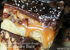 ~Salted Caramel Cookie Dough Billionaire Bars! - Oh Bite It