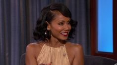 Image result for jada pinkett hair jimmy kimmel Jada, Camisole Top, One Shoulder, Tank Tops, Image, Women, Fashion, Halter Tops, Moda