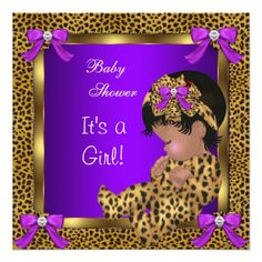 blue purple and gold baby shower cute baby shower baby girl leopard purple gold 2