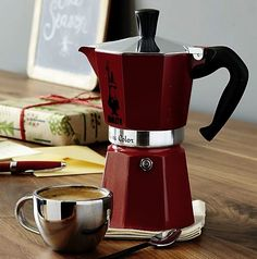 Bialetti Red Moka 6-Cup Espresso Maker