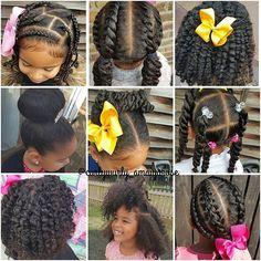 9 little girl hairstyles Lil Girl Hairstyles, Natural Hairstyles For Kids, Kids Braided Hairstyles, Princess Hairstyles, Natural Hair Care, Natural Hair Styles, Kid Braid Styles, Braids For Kids, Toddler Hair