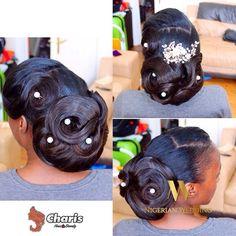 Nigerian wedding black bridal hair ideas and inspiration 14