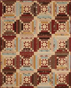 Libby's Log Cabin in Fons and Porter's Love of Quilting January February 2015 magazine