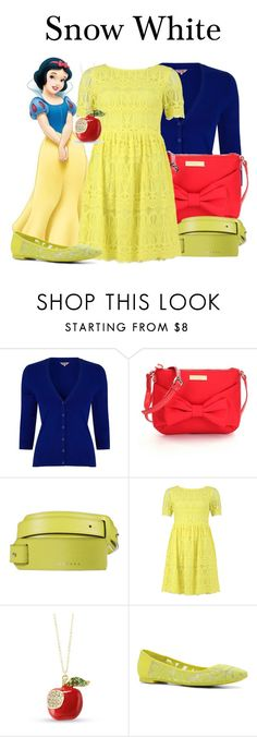"""""""Snow White"""" by megan-vanwinkle ❤ liked on Polyvore featuring Phase Eight, Kate Spade, John Richmond, FRACOMINA and ALDO"""