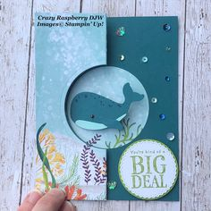 Paper Cards, Folded Cards, Nautical Cards, Stampin Up Catalog, Punch, Stamping Up Cards, Animal Cards, Kids Cards, Homemade Cards