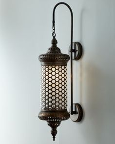 could make with honeycomb glass candleholder from HL with some rub n buff& old swag lamp parts