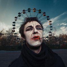 Clown, photography by Alexander Kuzovkov
