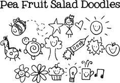 FREE Pea Fruit Salad Doodles #Font #DIY #Fonts