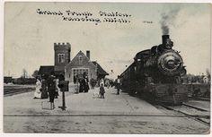 https://flic.kr/p/e8duRk | Photoette 10368 -- Grand Trunk Station. Lansing, Mich. -- postmarked October 4, 1910.