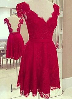 Bridesmaid  dresses  lace  burgandy  or red