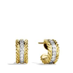 Cable Classics Extra Small Earrings with Diamonds