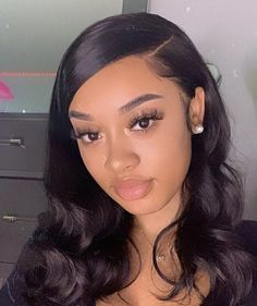 Baddie Hairstyles, Weave Hairstyles, Straight Hairstyles, Slick Hairstyles, Pretty Hairstyles, Curly Hair Tips, Curly Hair Styles, Natural Hair Styles, Natural Hair Weaves