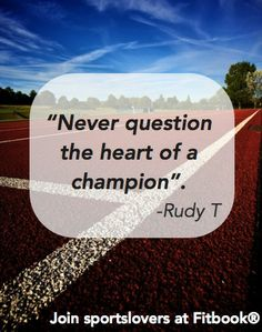 Never question the heart of a champion