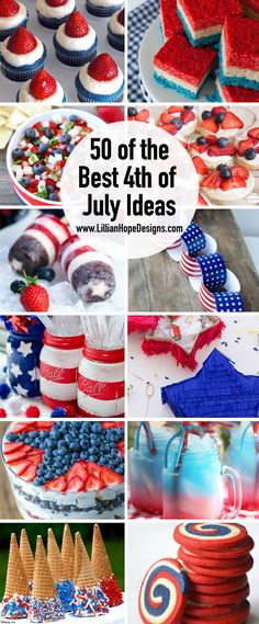 Of July Party Ideas - Of July Food Ideas, Party Decor Ideas & More - The top 50 July Ideas – The BEST Fourth Of July Ideas – Something for everyone – July - 4th Of July Desserts, Fourth Of July Food, 4th Of July Fireworks, 4th Of July Celebration, 4th Of July Party, Patriotic Party, Patriotic Desserts, Blue Desserts, July 4th Appetizers