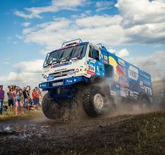 Oh summer days...☀️ @kamaz_master continue to own the @silkwayrally challenge  #bigblue #trucks are the #best!
