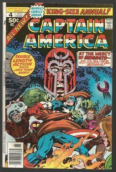 Captain America Annual #4 MAGNETO Marvel Comics All new Jack Kirby VF/NM- 1977