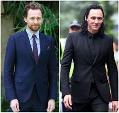 """lolawashere: """"Gruff-bearded Scottish farmer on his day off or smooth-shaven misschief-master Asgardian prince? Which one wore Tom Hiddleston's face better??? """""""