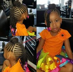hairstyles little girl hairstyles good for swimming braided hairstyles braid hairstyles hairstyles with afro puff hairstyles 2019 pictures hairstyles on short hair hairstyles without weave Black Kids Hairstyles, Cute Braided Hairstyles, Baby Girl Hairstyles, Natural Hairstyles For Kids, Natural Hair Styles, Teenage Hairstyles, Hairstyles Pictures, American Hairstyles, Hairstyles Games