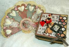 Two Gorgeous Creations from Candy using my digital collage sheets :0)  Please check out her blog post for her tutorial on how to make the fan and how she altered her box! TFL Hugs Heather