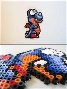 Super Mario World - Rex - bead sprite magnet