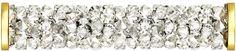 SWAROVSKI® 5950 Fine Rocks Tube (001 MOL Crystal Moonlight) Swarovski, Moonlight, Innovation, Tube, Rocks, Spring Summer, Steel, Crystals, Gold