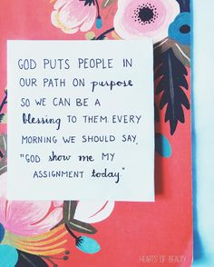 ...God show me my assignment today.  I want to be used by God to bring others to Him. But honestly I don't pray for a divine appointment EVERY day! Sometimes I'm so wrapped up into my own things that I don't think of serving! My prayer for this week is to be cognizant of serving others and sharing God through my service.  Pray for divine appointments! Be willing to be used by God and be prepared to do great things by and through Him! by @heartsofbeauty via http://ift.tt/1RAKbXL